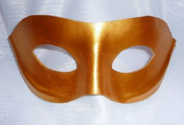 Genuine Handmade Italian Gold  Leather Mask(other colours avail) (1)
